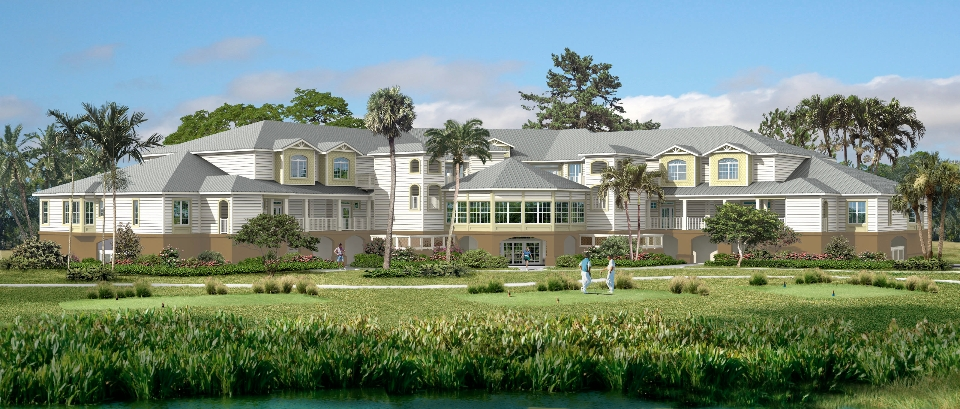 The Lodge at Coral Creek, Boca Grande, Florida – Hartley + Purdy Architecture designed this 16 unit condominium development on a private golf course in Charlotte County.