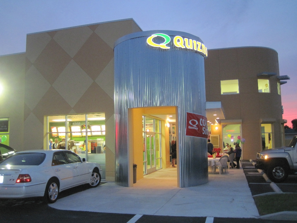 Quiznos Sub - Hartley + Purdy Architecture quickly became the preferred Architect for the entire Southeast United States region for Quiznos Sub, designing stores in Florida, Georgia, and Arkansas.  We also assisted with the development and modification of the Quiznos Sub 2010 Prototype drawings.