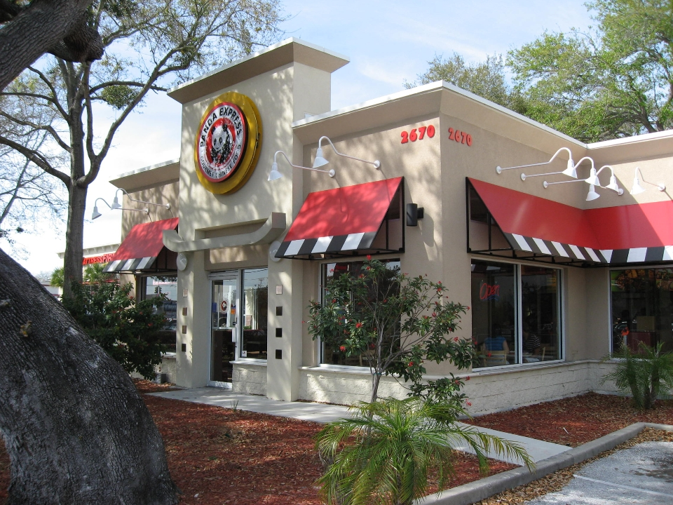 Panda Express - Hartley + Purdy Architecture designed prototype stores for Panda Express and Hibachi San Grill for five different locations in Florida in 2004 & 2005.