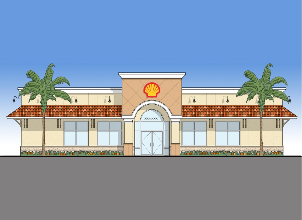Guyton Energy - Hartley + Purdy Architecture developed prototypes for 3,000sf and 5,000sf Shell Oil & Convenience Stores for Guyton Energy.