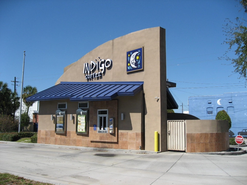 Indigo Coffee - Hartley + Purdy Architecture developed the prototype model for Indigo Coffee, and we performed Architecture and Engineering design for five stores in Florida.