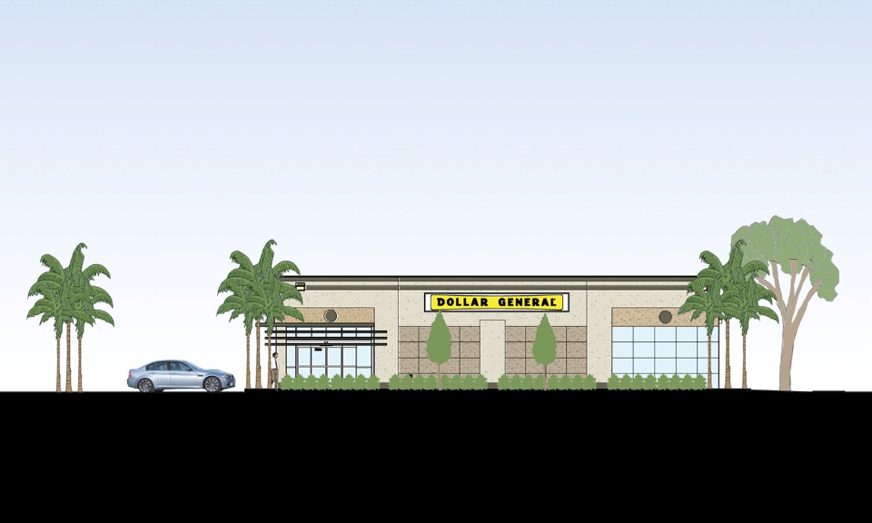 Dollar General - Hartley + Purdy Architecture has designed regional and site specific custom designs and prototype designs for Dollar General in various locations throughout Florida.