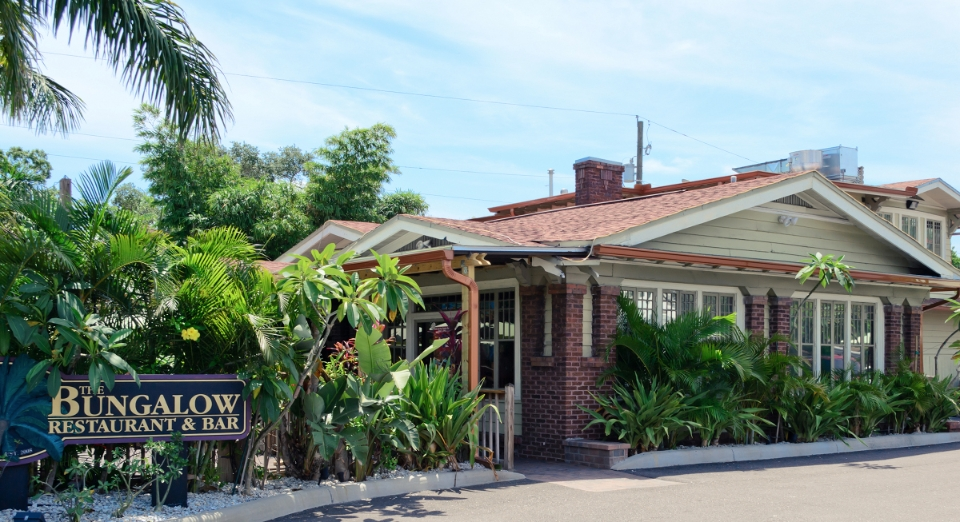 The Bungalow Restaurant & Bar - Hartley + Purdy Architecture performed Architectural and Engineering design to restore an historic 1919 Tampa landmark bungalow and convert it to a 2,600sf restaurant and bar with a 1,000sf outdoor party deck.